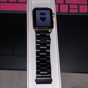 Black steel 42mm band for Apple Watch